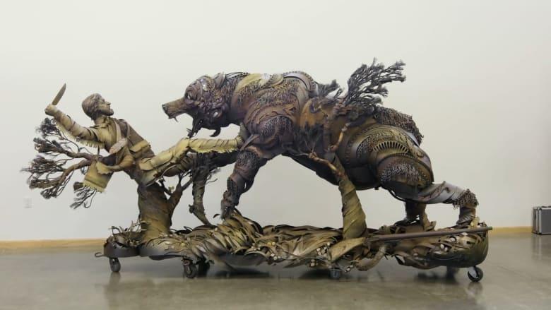 تماثيل أكبر من حجم الحيوانات الحقيقية مستوحاة من براري الغرب