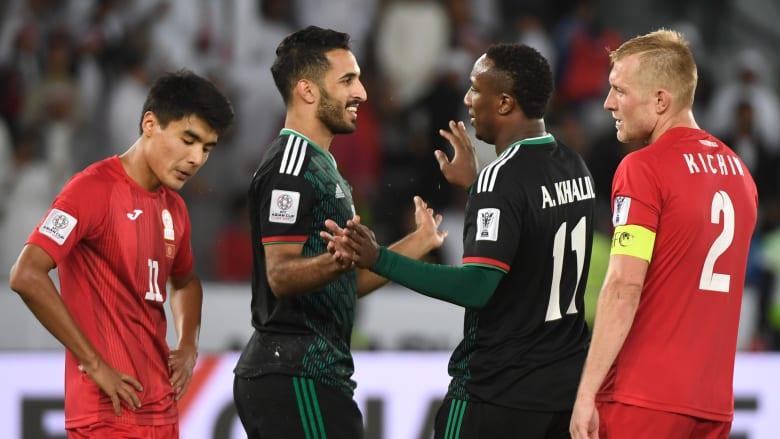 """الإمارات تهزم قرغيزستان """"بصعوبة"""" وتضرب موعدا مع أستراليا"""