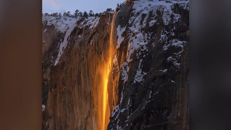 """""""شلال الحمم البركانية"""" يظهر مجدداً في كاليفونيا"""
