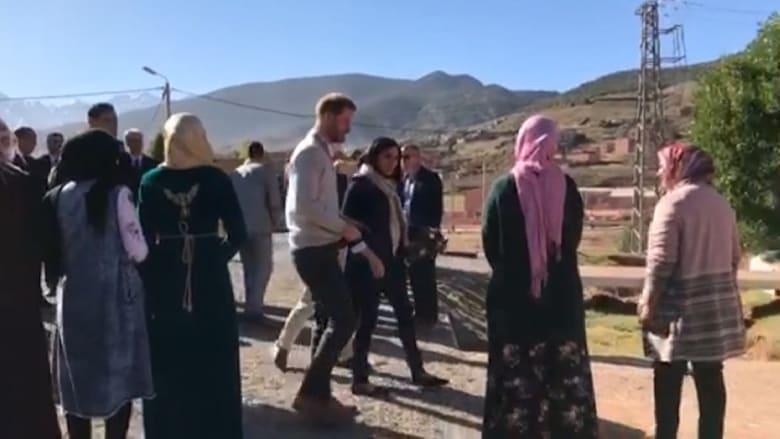 الأمير هاري وميغان يقومان بجولة سريعة للمغرب