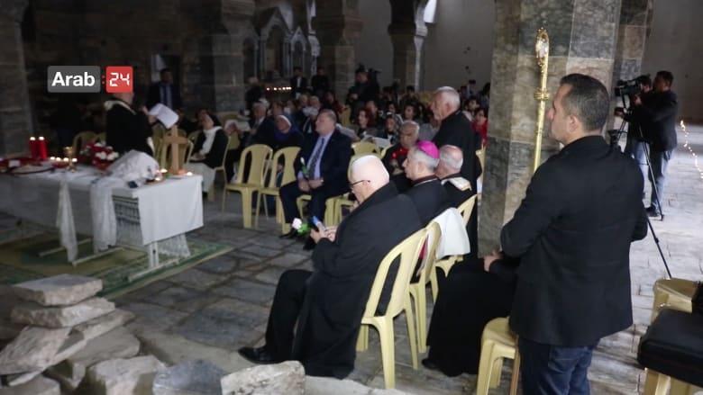 إقامة أول قداس في أقدم كنائس الموصل المدمرة بعد هزيمة داعش