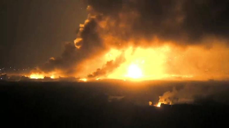 طلقات وانفجارات بحلكة الليل.. مشاهد حصرية من المعارك ضد داعش