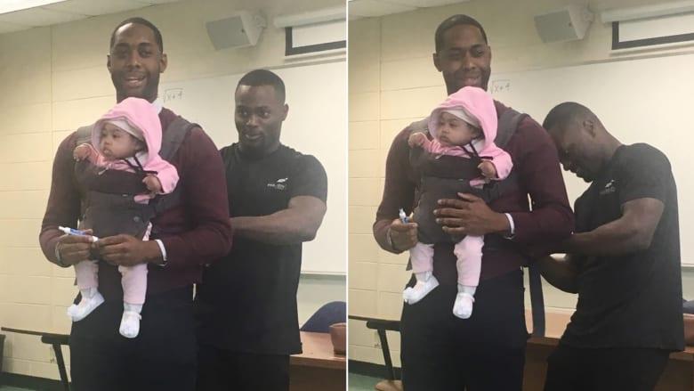 صورة لأستاذ جامعي يحمل طفلة لطالب تنال إعجابا كبيرا
