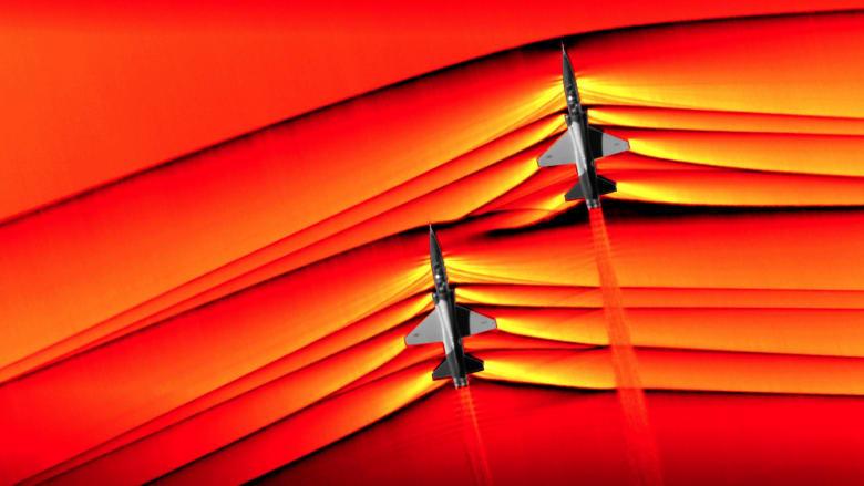 ناسا تلتقط صوراً لاختراق حاجز الصوت أثناء الطيران