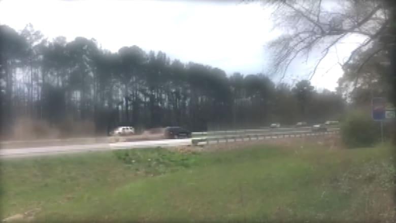 تحطم سيارة بالقرب من موكب ترامب الرئاسي