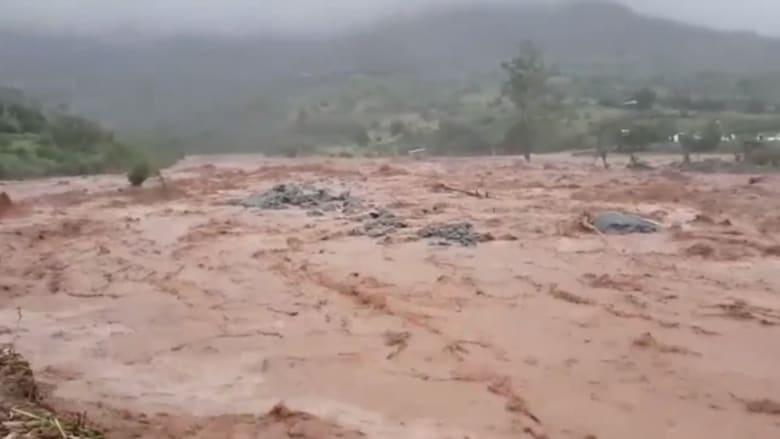 """شاهد الدمار الذي خلفه إعصار """"إيداي"""" في زيمبابوي"""