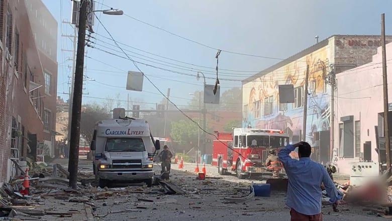 شاهد.. اللحظات الأولى بعد انفجار غاز ضخم في أمريكا