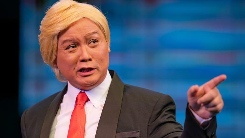 ترامب يتعرّف إلى توأمه الصيني الغائب في الأوبرا الصينية