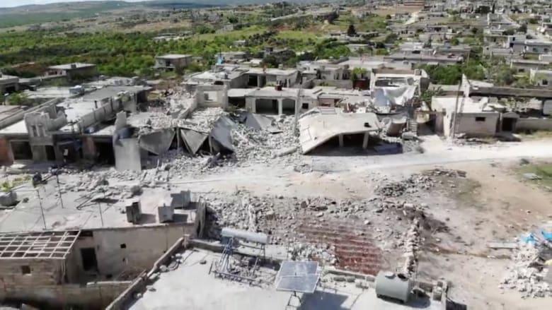 بعد أنباء عن غارات بإدلب.. شاهد من الجو الدمار الذي لحق بها