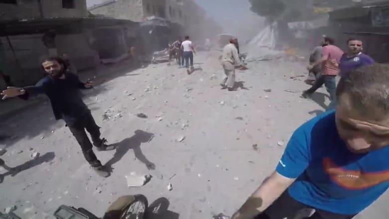 الخوذ البيضاء: غارة تستهدف سوق معرة النعمان بإدلب وسقوط قتلى