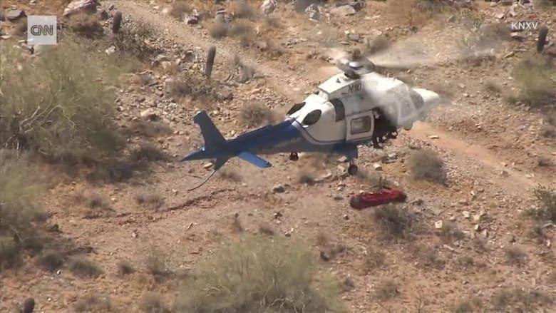 عملية إنقاذ بمروحية تأخذ منحى غير متوقع.. شاهد ما حدث