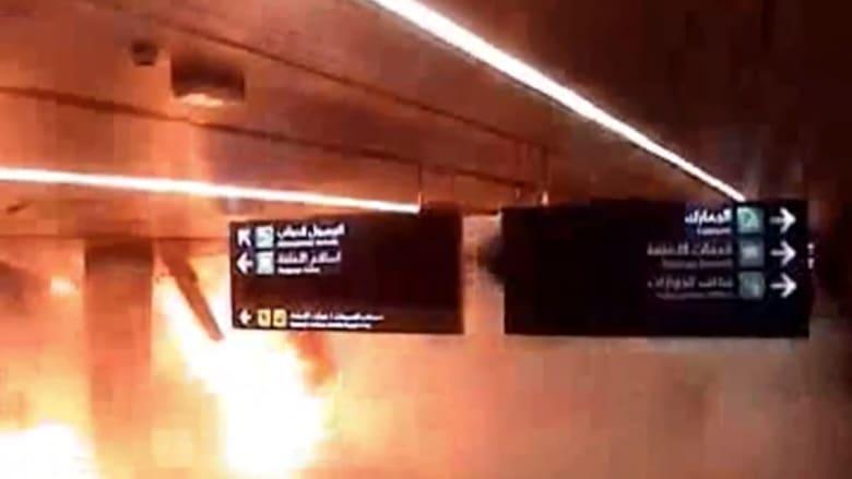 حصري.. لحظة وقوع الهجوم على مطار أبها الدولي في السعودية