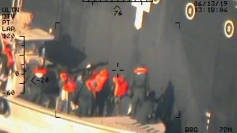 البنتاغون: صور لقوات إيرانية تزيل لغما من إحدى ناقلتي النفط