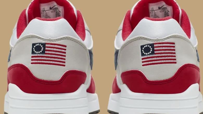 نايكي تسحب حذاء رياضيا يحمل علم أمريكا القديم