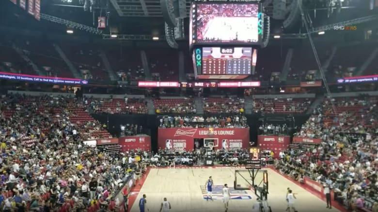 لحظة وقوع زلزال عنيف خلال مباراة لكرة السلة في لاس فيغاس