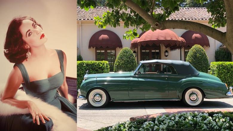 """""""الإلهة الخضراء"""".. سيارة إليزابيث تايلور تعرض بمزاد"""
