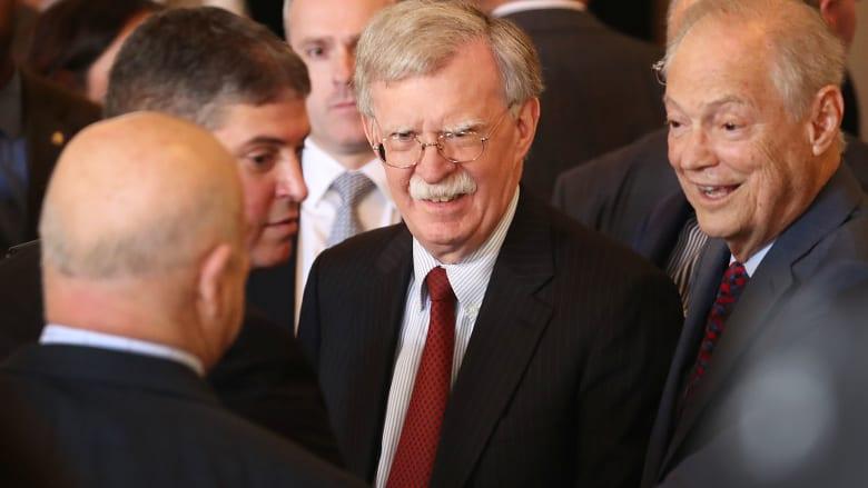 مصدر يكشف ما قاله بولتون باجتماع مغلق عن سياسة ترامب بملفات منها إيران