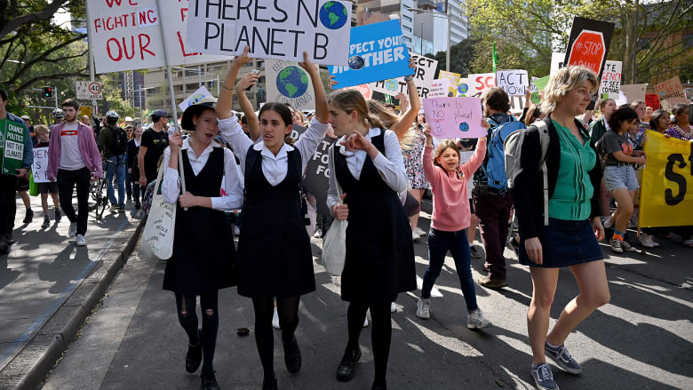 مظاهرات من أجل مواجهة التغير المناخي في أستراليا