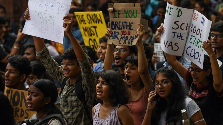 مظاهرات من أجل مواجهة التغير المناخي في الهند