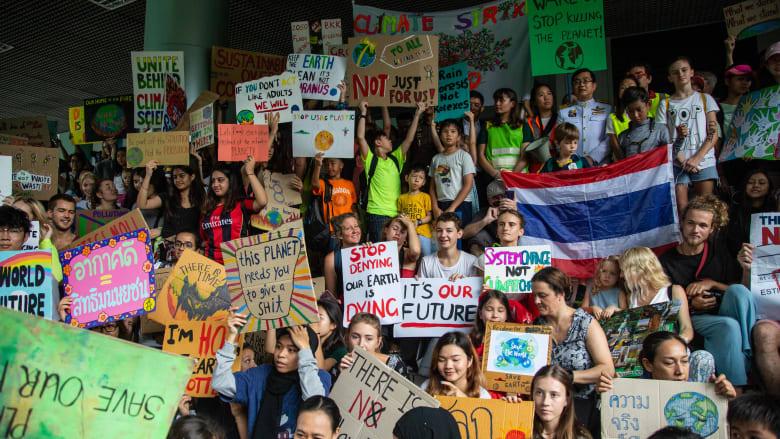 مظاهرات من أجل مواجهة التغير المناخي في تايلاند