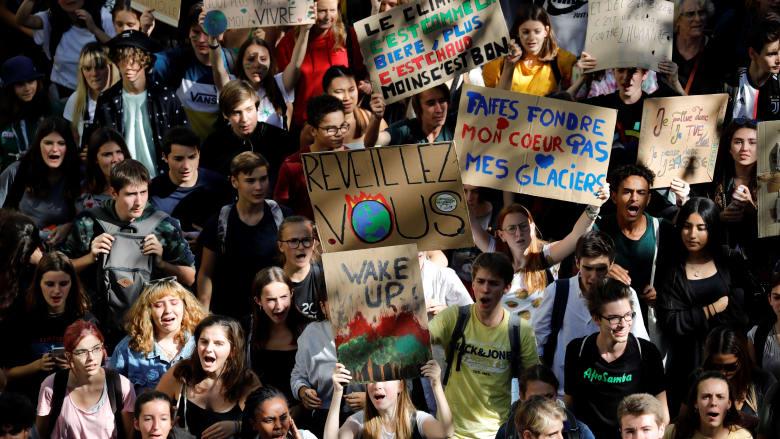 مظاهرات من أجل مواجهة التغير المناخي في فرنسا
