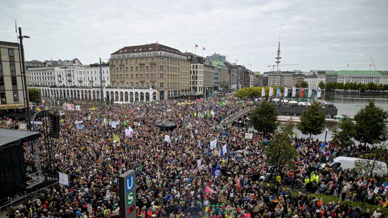 مظاهرات من أجل مواجهة التغير المناخي في هامبورج بألمانيا