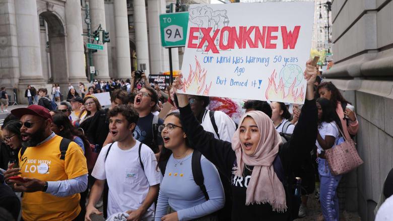 مظاهرات من أجل مواجهة التغير المناخي في نيويورك