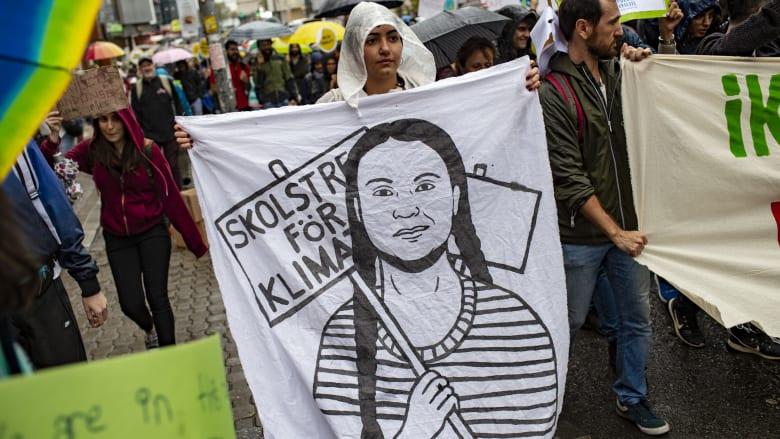 مظاهرات من أجل مواجهة التغير المناخي في إسطنبول