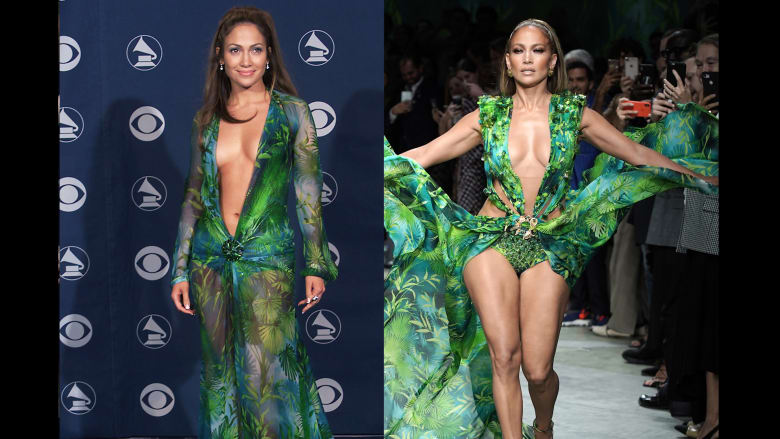 فستان أخضر ارتدته قبل 20 عاماً..جنيفر لوبيز تُولع إيطاليا