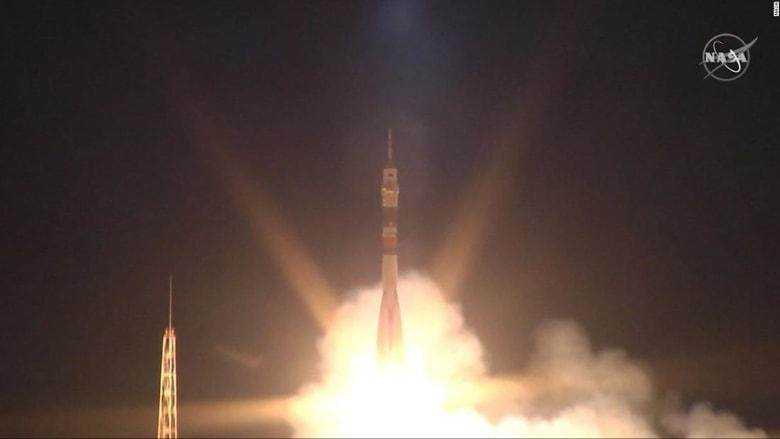 بينهم إماراتي.. لحظة انطلاق طاقم محطة الفضاء الدولية الجديد