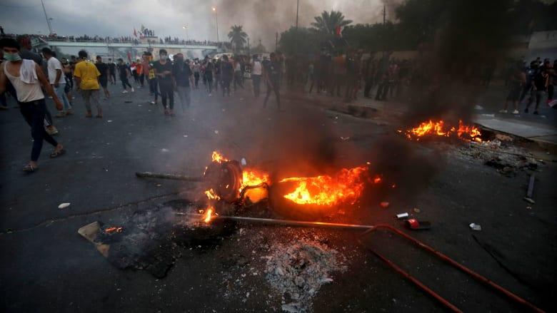 مواجهات عنيفة بين محتجين وقوات الأمن العراقي في ساحة الطيران