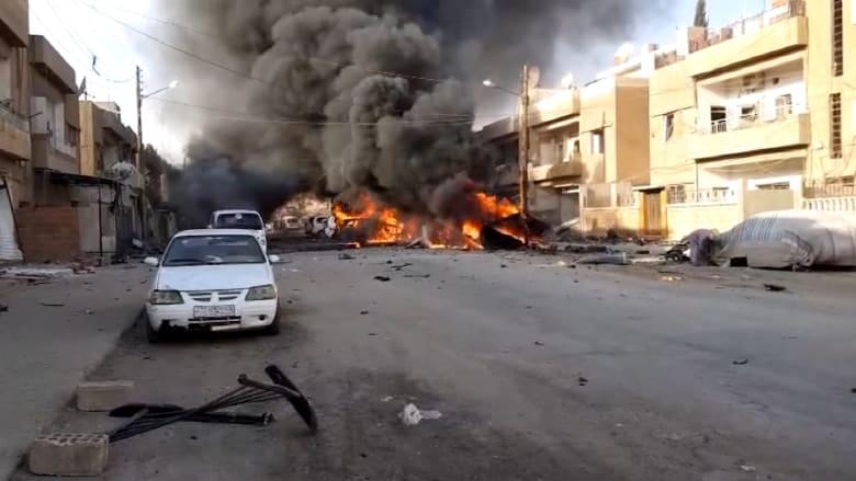 داعش يتبنى تفجير سيارة بالقامشلي وسط هجوم تركيا شمال سوريا