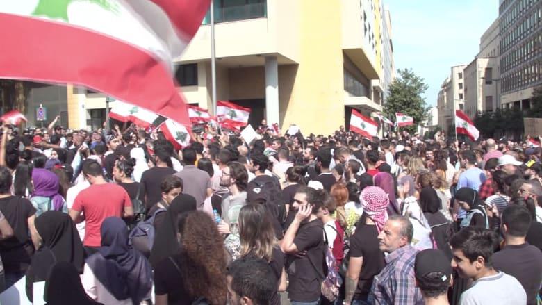 لبنان على الحافة بعد الاحتجاجات الهائلة