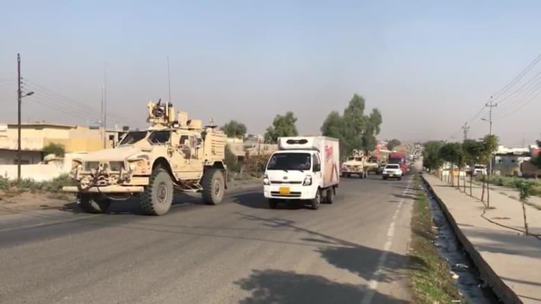 لحظة وصول القوات الأمريكية إلى العراق بعد الانسحاب من سوريا