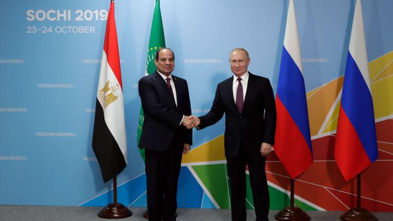"""بمنتدى """"أفريقيا - روسيا"""".. بوتين يعلن انشاء 23 شركة بمصر والسيسي يبرز الفرص"""