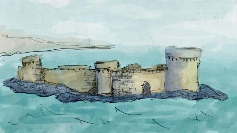 """أعجوبة مغمورة تحت الماء.. ما سبب غرق قلعة """"سبايل"""" في بحر قزوين؟"""