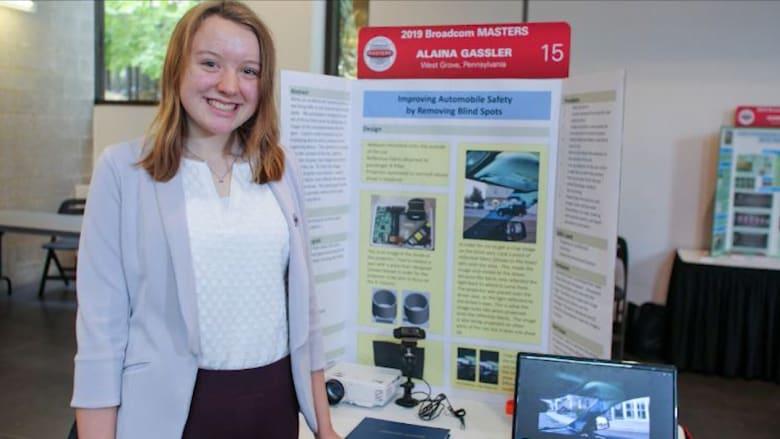"""طالبة ذات 16 عاماً تحل مشكلة """"النقطة العمياء"""" بالسيارات"""