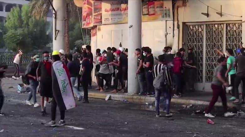 مقتل 4 متظاهرين في اشتباكات عنيفة مع الأمن في العراق