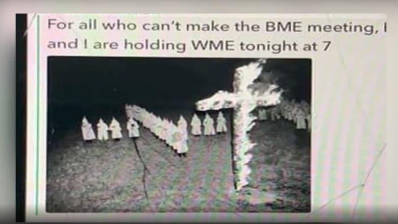 """ضجة بجامعة أمريكية بسبب صورة """"صليب محترق"""" ورسائل عنصرية"""