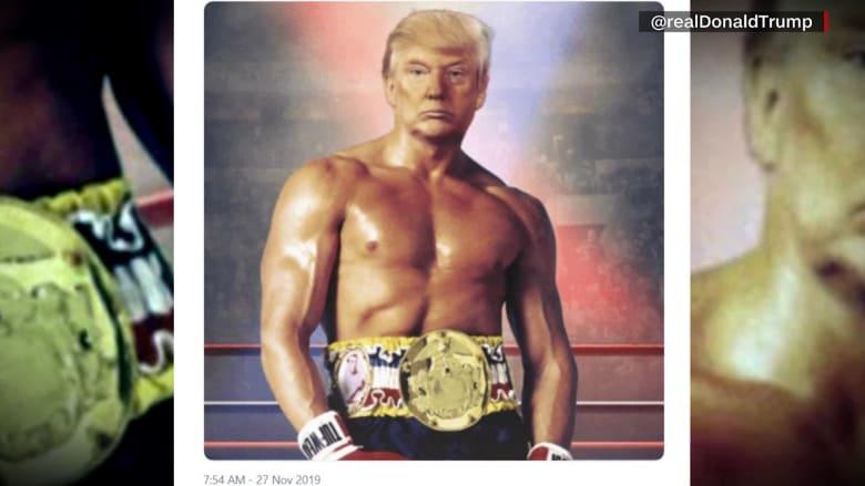 """رأس ترامب على جسد """"روكي"""".. """"عضلات"""" رئيس أمريكا تشعل الإنترنت"""