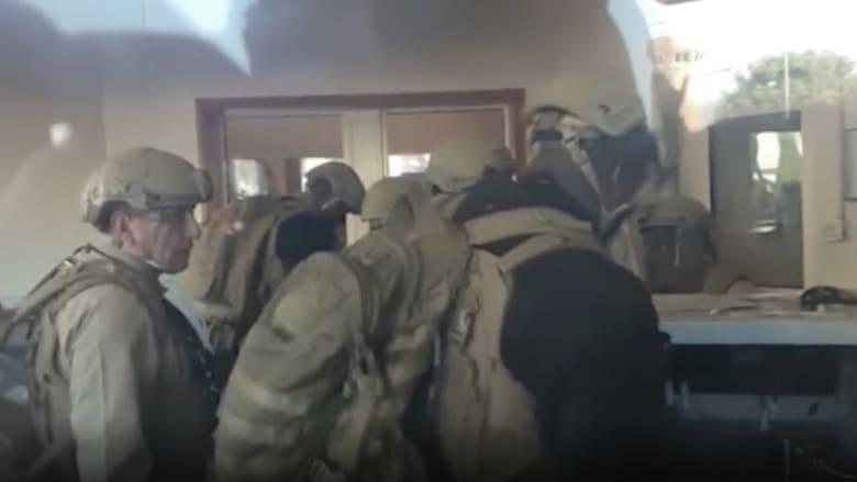 ردة فعل جنود المارينز عند محاولة اقتحام سفارة أمريكا ببغداد