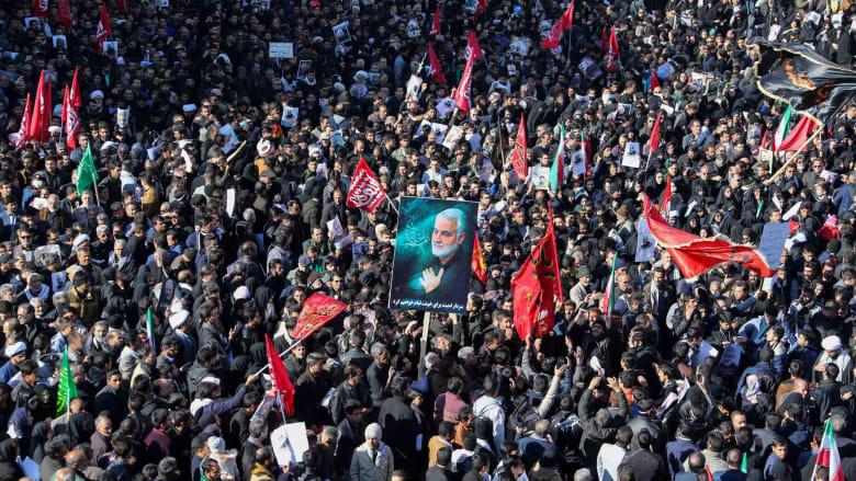 مقتل عشرات الإيرانيين بتدافع خلال تشييع سليماني