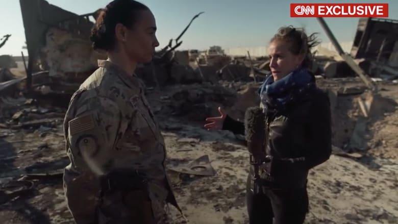 """حصريا لـCNN.. لقاء مع أحد ضباط سلاح الجو الأمريكي في """"عين الأسد"""""""