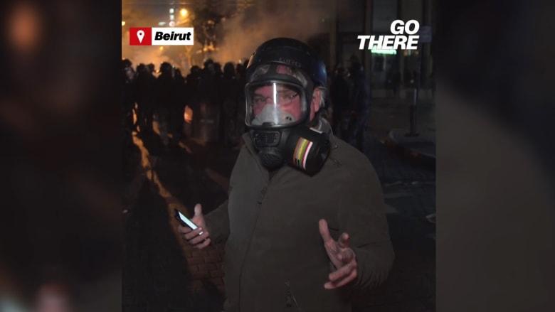 مراسل CNN يستعرض مظاهرات الشارع اللبناني ويبيّن مطالبه