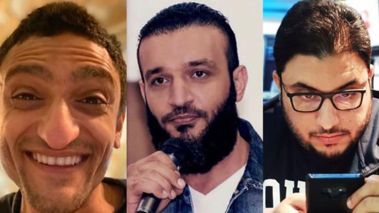 أنس حين (يمين) عبدالله الشريف (وسط) وائل غنيم (يسار)