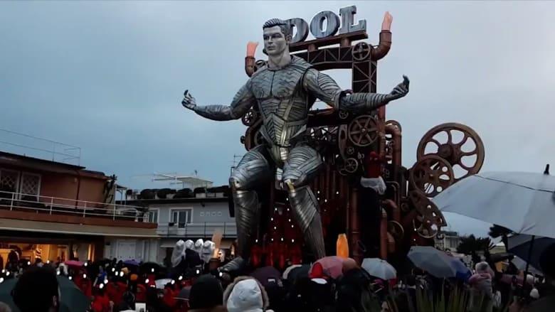 تمثال متحرك لكريستيانو رونالدو على شكل روبوت