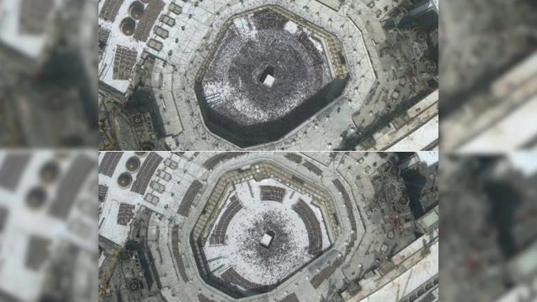 منها مكة وقم.. صور أقمار صناعية تظهر قبل وبعد أثر فيروس كورونا بالعالم