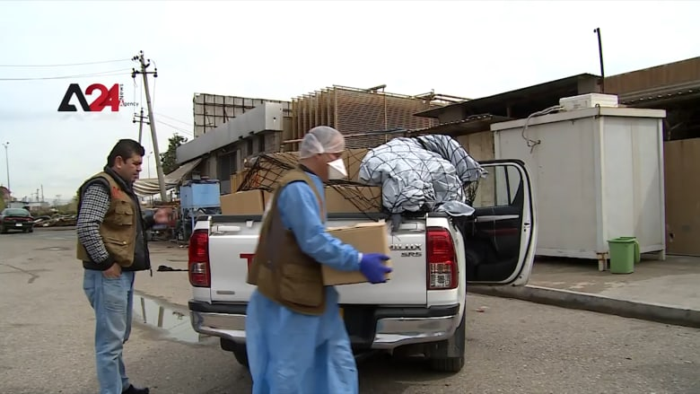 سلال غذائية للمحتاجين والنازحين مع تمديد حظر التجول في كردستان العراق