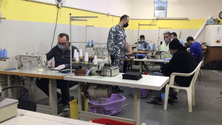 كورونا في لبنان.. سجناء يصنعون أقنعة للوجه لمواجهة الجائحة