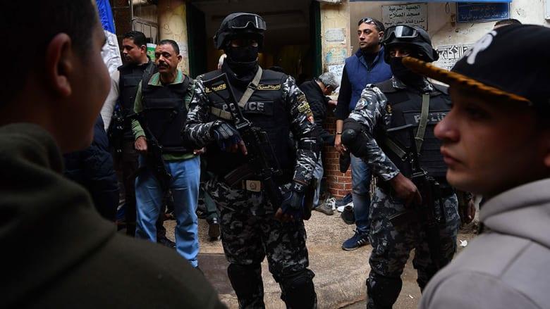 صورة أرشيفية لعناصر بالأمن المصري في فبراير 2019